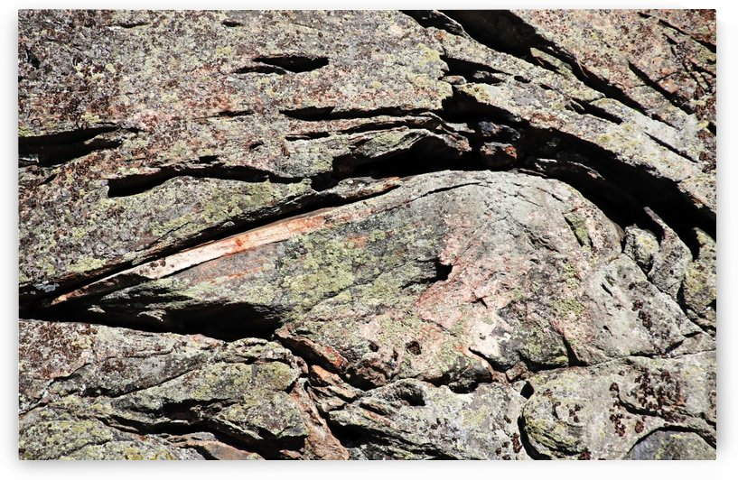Abstract Design In Rock by Deb Oppermann
