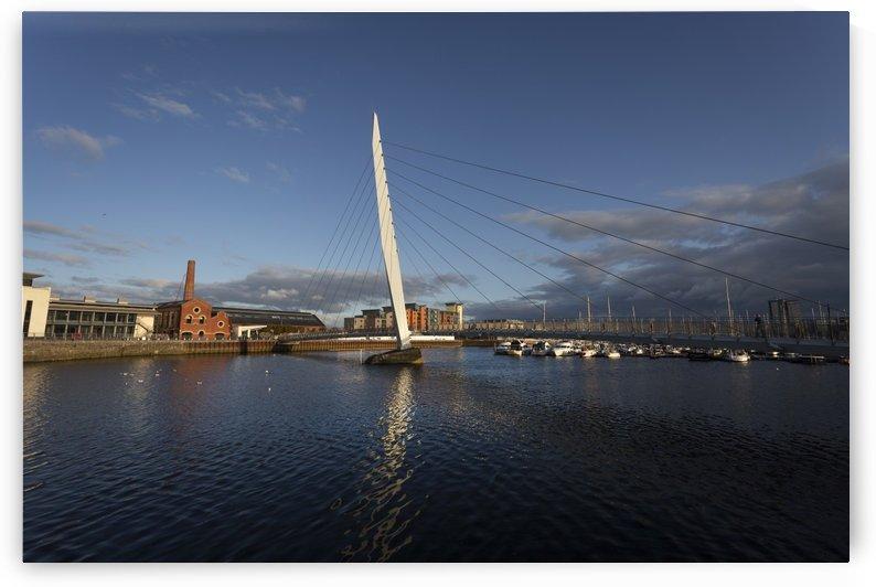 Swansea Sail Bridge and Marina by Leighton Collins
