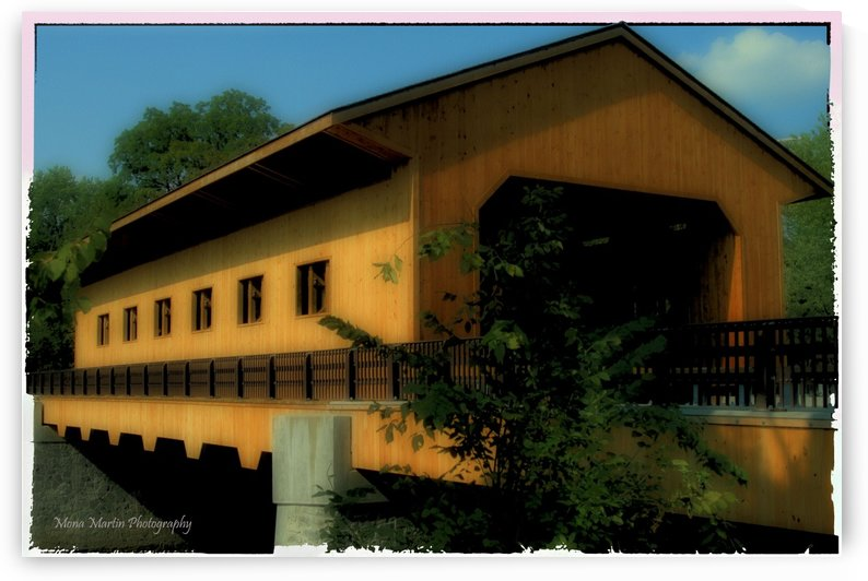 Pepperell Covered Bridge by Mona Martin
