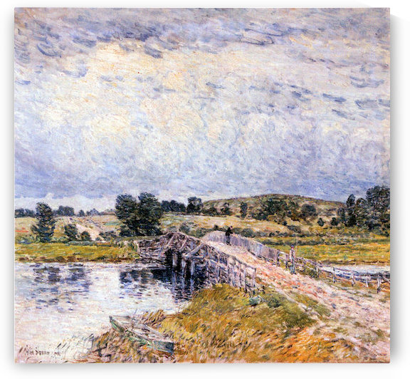 The bridge from Old Lyme by Hassam by Hassam
