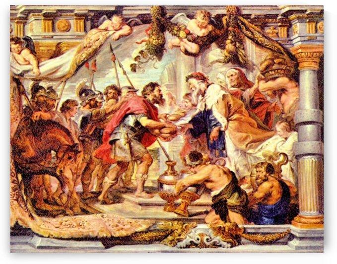 Abraham with Melchizedek by Rubens by Rubens
