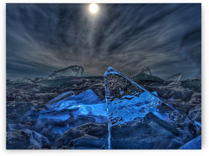 Glowing Ice at Night by Jeremy Kasapidis