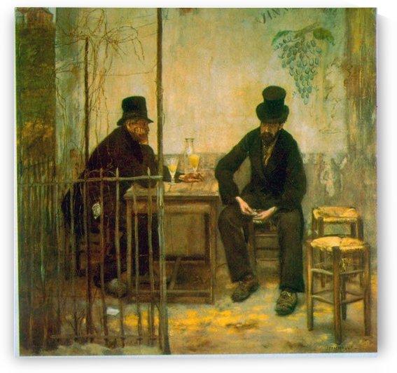 Absinthe Drinkers by Raffaelli by Raffaelli