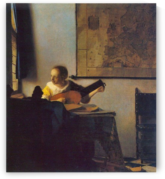 According to the player by Vermeer by Vermeer
