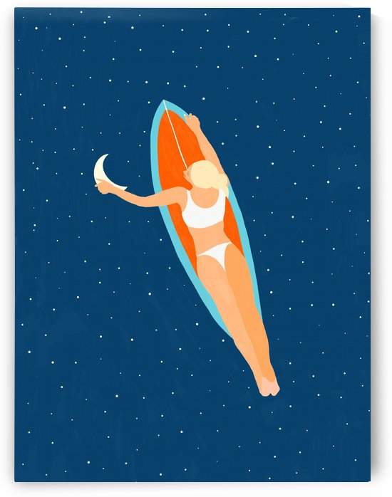 Moon Surfing by 83 Oranges