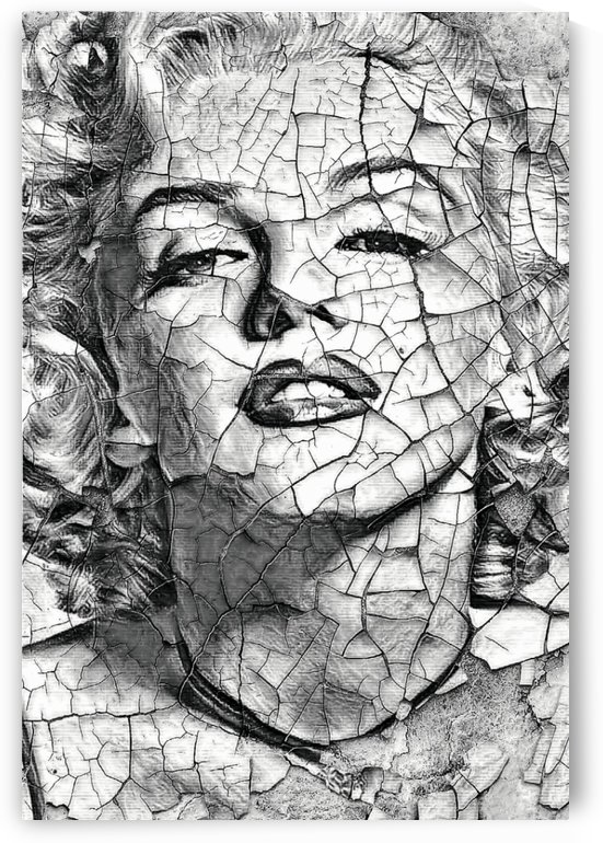 Porcelaine  tribute to Marylin Monroe  by Ivan Venerucci Italian Style