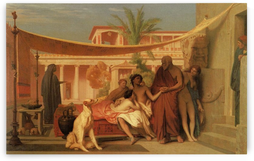 Socrates seeking Alcibiades in the House of Aspasia by Jean-Leon Gerome