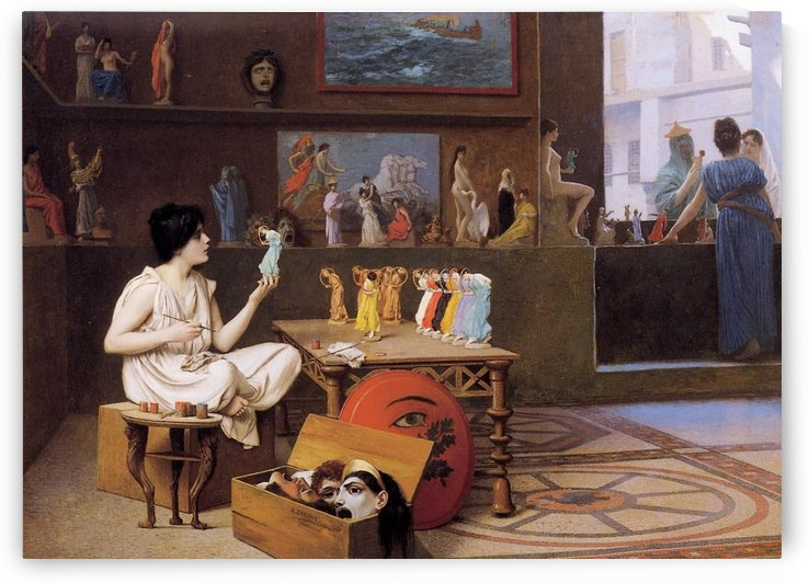 Painting Breathes Life into Sculpture by Jean-Leon Gerome
