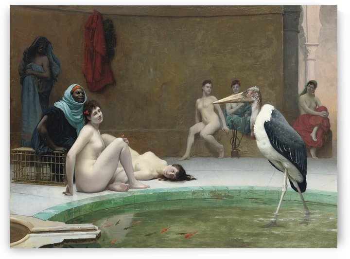 Le Marabout in the bath by Jean-Leon Gerome