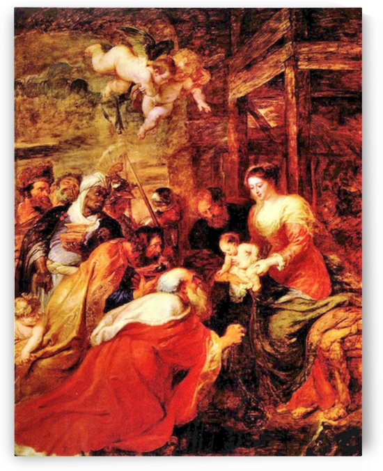 Adoration of the Magi by Rubens by Rubens