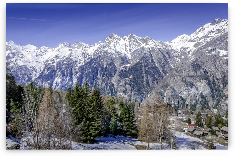 Swiss Alps in Winter by Ann Romanenko