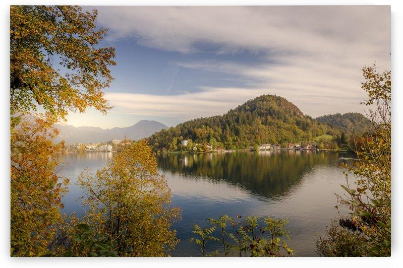 Golden Autumn in Bled  by Ann Romanenko