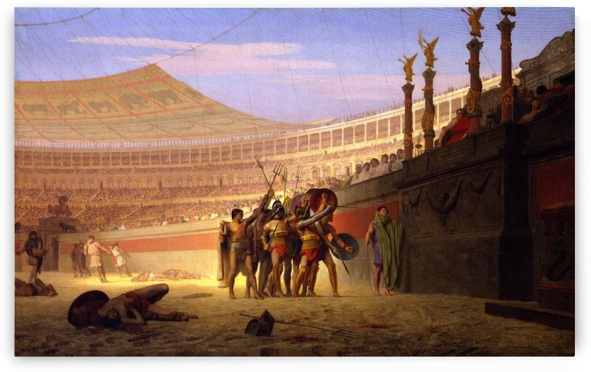 Ave Caesar Morituri Te Salutant by Jean-Leon Gerome