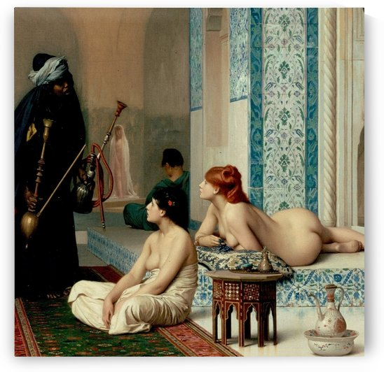 Oriental bath by Jean-Leon Gerome