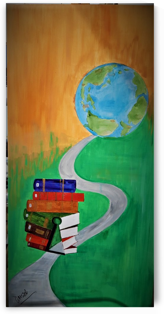 ahson_qazi_books_keyhole_globe_symbolic_education__by_ahsonqazi_stretched canvass 24x48shades of Divinity by Ahson Qazi
