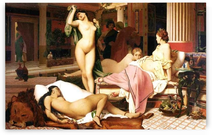 Greek Interior painting by Jean-Leon Gerome
