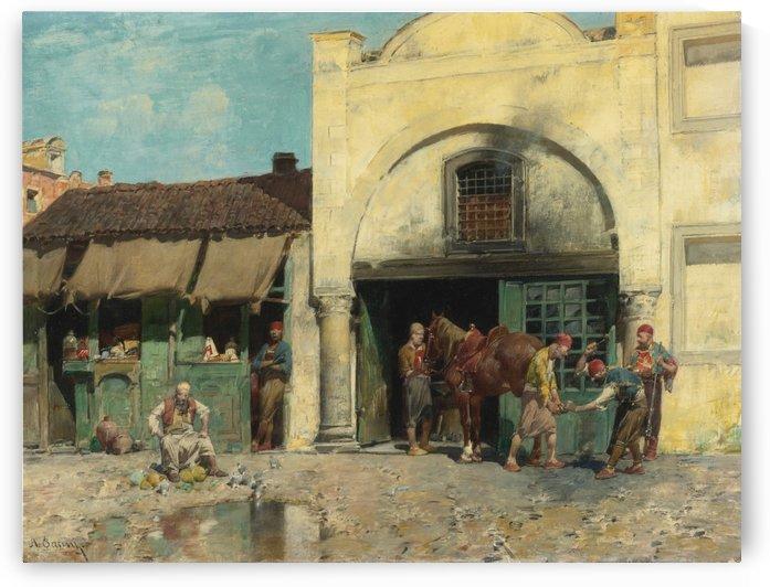 Oriental market by Jean-Leon Gerome