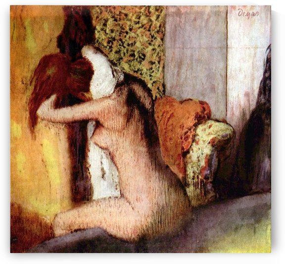 After bathing 2 by Degas by Degas