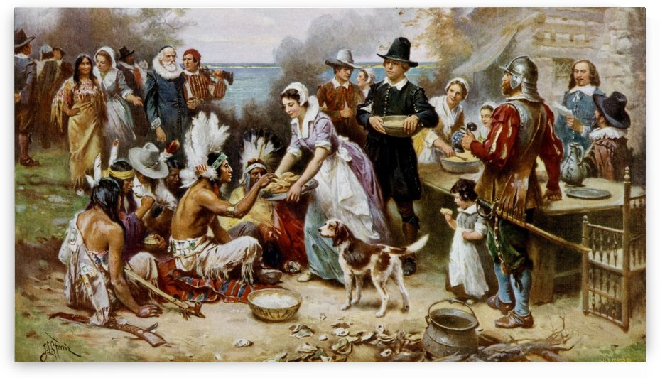 The First Thanksgiving 1621 by Jean-Leon Gerome