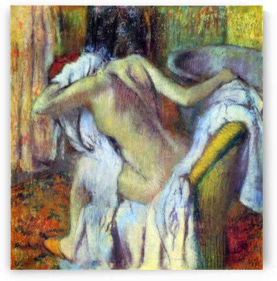 After Bathing 4 by Degas by Degas