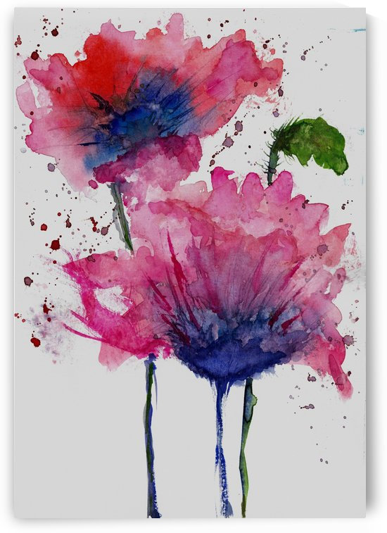 Red Flowers by Angel Estevez