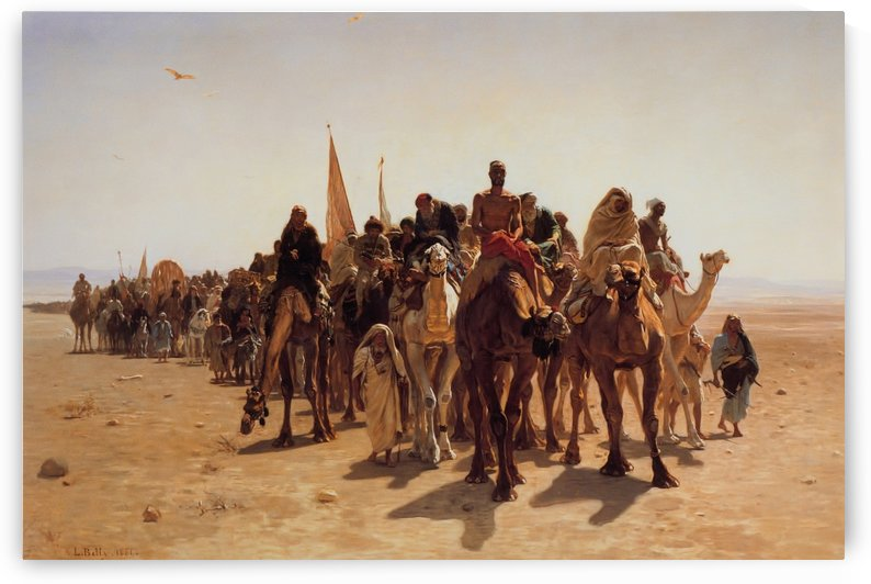 Pilgrims going to Mecca by Jean-Leon Gerome