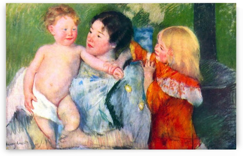 After the bath by Cassatt by Cassatt
