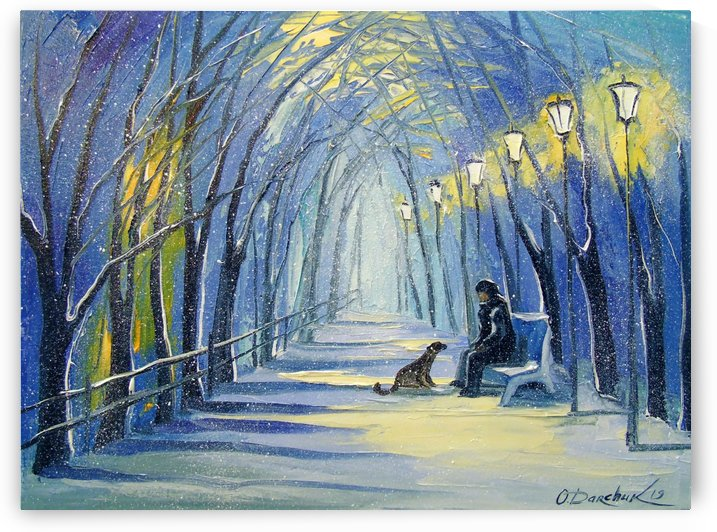 Winter evening by Olha Darchuk