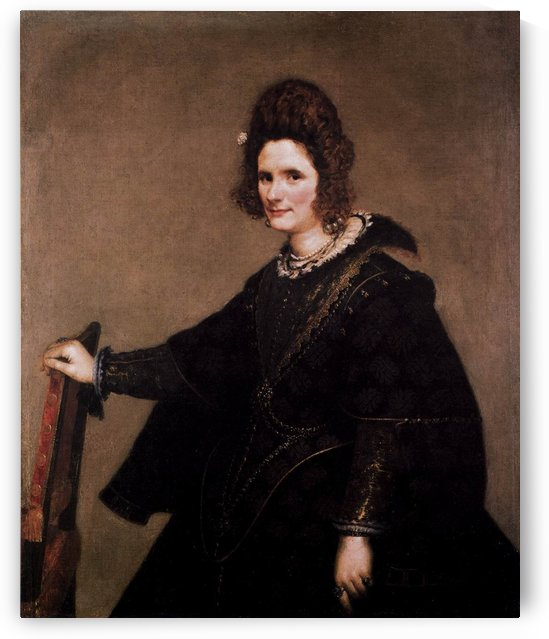 Portrait of a Lady dressed in black by Diego Velazquez