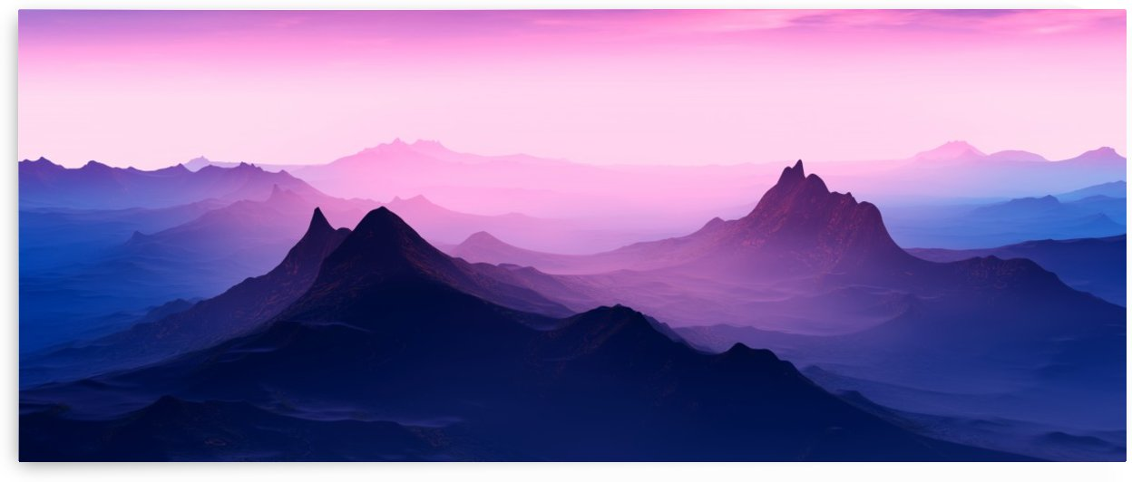 Sunset in the Mountains 2 by Angel Estevez