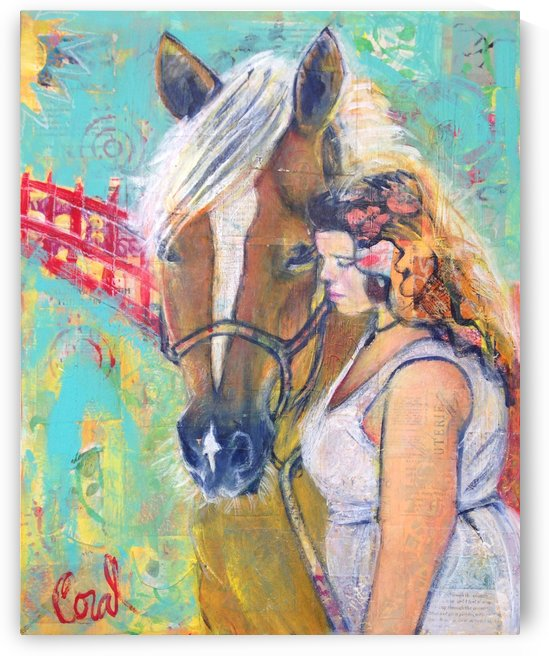 Girl and Horse by Coral Staley