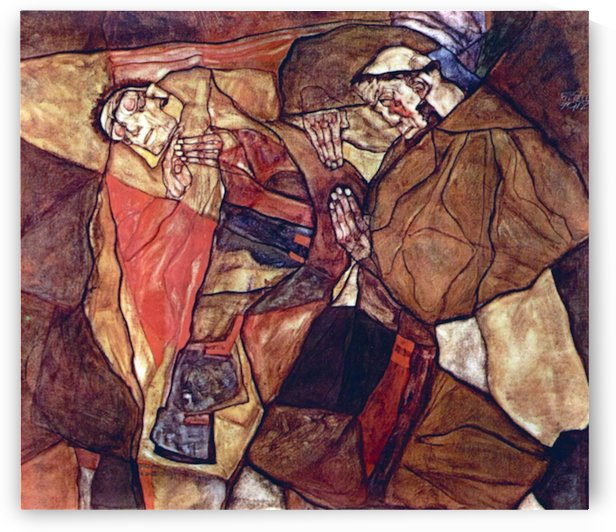 Agony (The Death Struggle) by Egon Schiele by Egon Schiele