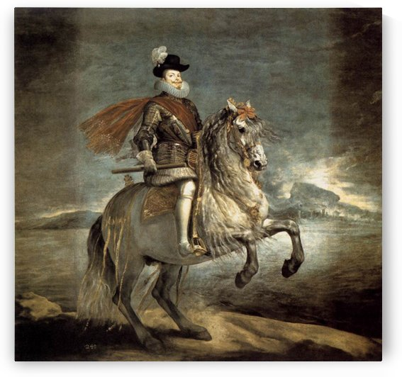 Equestrian Portrait of Philip III by Diego Velazquez