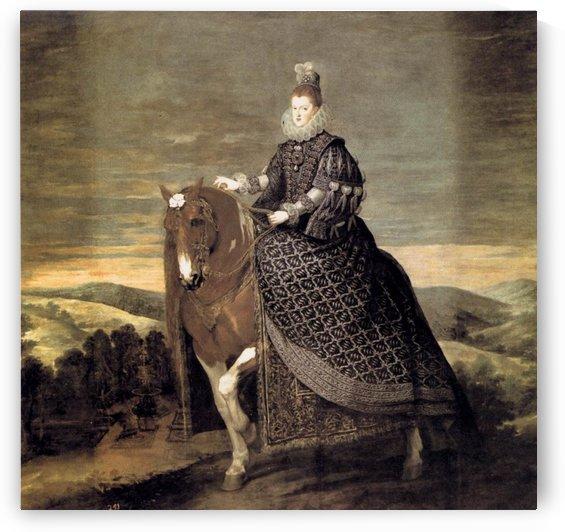 Portrait of Queen Margaret of Austria by Diego Velazquez