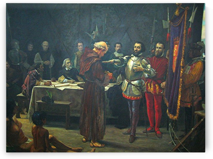 Juramento de Hernan Cortes by Diego Velazquez