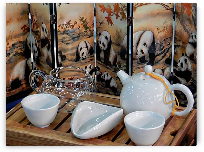 Chinese Tea Ceremony Set With Pandas by Dorothy Berry-Lound