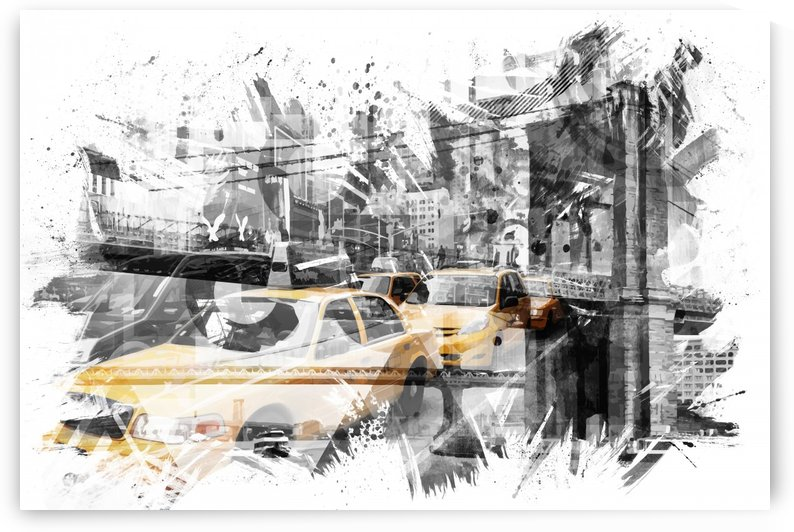 Modern Art NYC Collage  by Melanie Viola