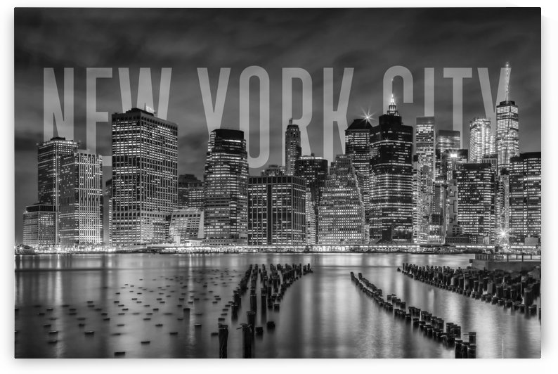 NEW YORK CITY Skyline | Monochrome by Melanie Viola