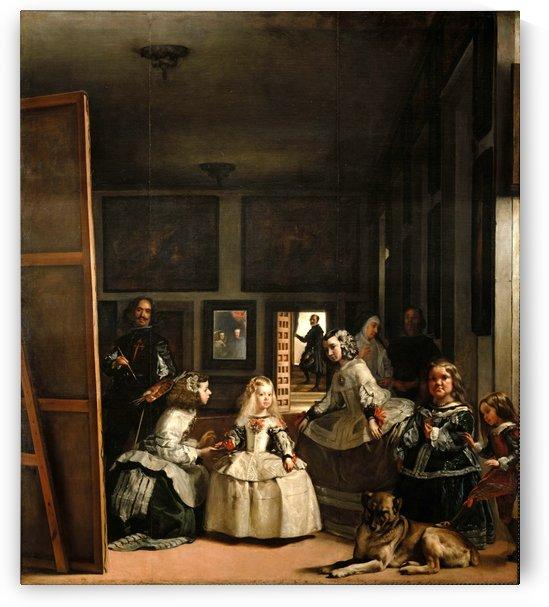 Las Meninas larger room by Diego Velazquez