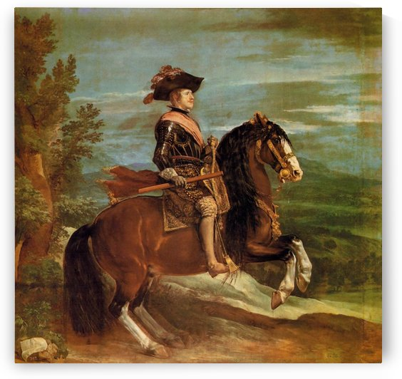 Equestrian Portrait of Philip IV by Diego Velazquez