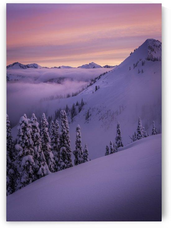Mt Ricco Alpen glow Retallack backcountry by Billy Stevens media