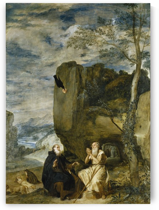 St. Anthony the Abbot and St. Paul the First Hermit by Diego Velazquez