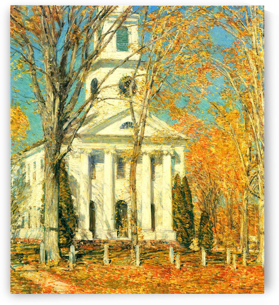 The Church of Old Lyme, Connecticut -2- by Hassam by Hassam