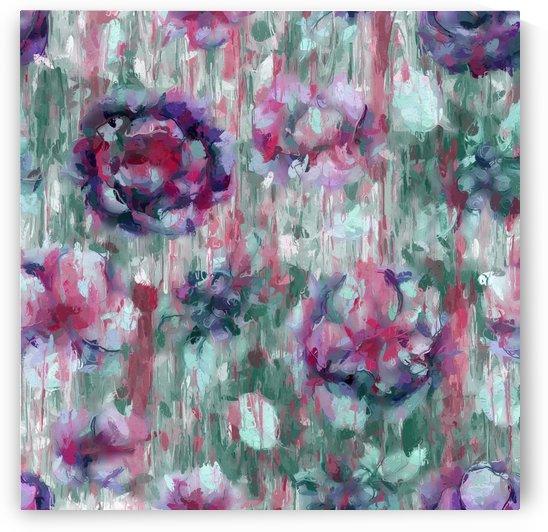 Multicolor Abstract Floral  by Gabriella David