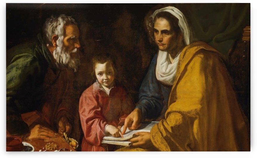 La educacion de la Virgen, 1617 by Diego Velazquez