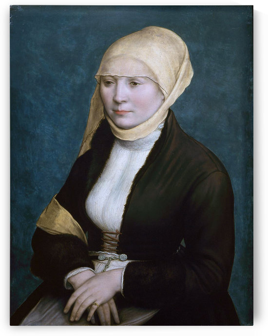 Portrait of a woman from southern Germany by Hans Holbein