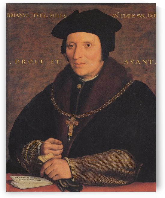 Portrait of Brian Tuke by Hans Holbein