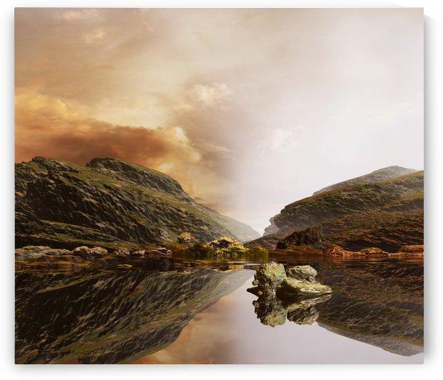 Clear Skies Liquid Mirror by Angel Estevez