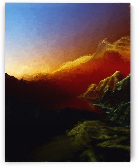 Sunset in the Mountains 23 by Angel Estevez