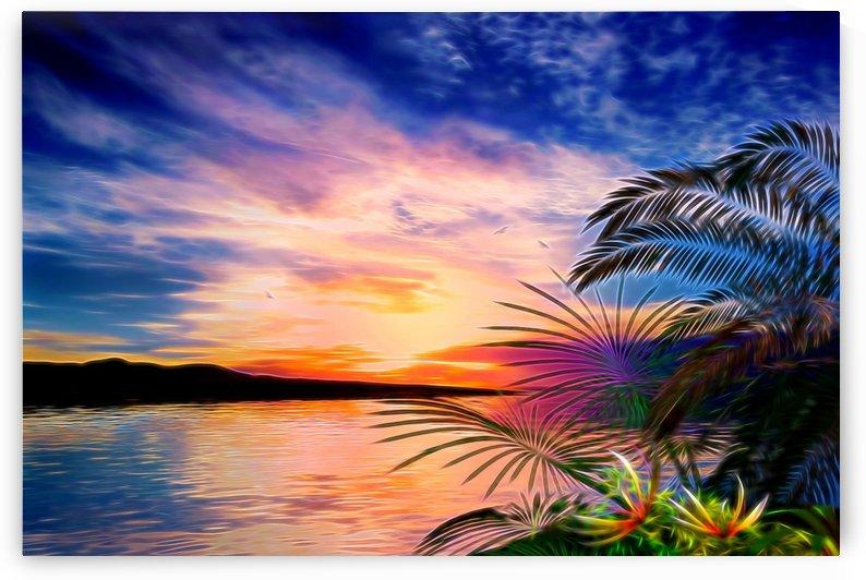 Tropical Landscape by Angel Estevez